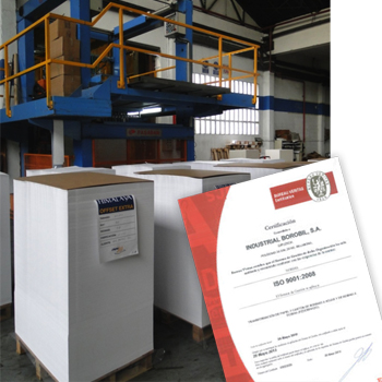 Quality ISO9001:2008 Borobil Sheet and cardboards